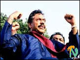 Mahinda Rajapakse protests