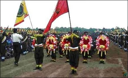 Tharavai military parade
