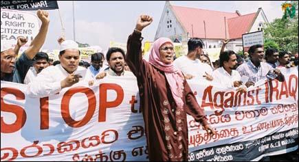 Colombo muslims demonstration 1
