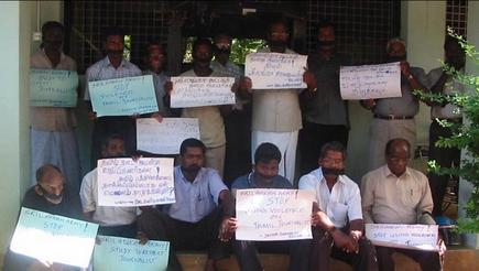 Protests by journalists in Jaffna