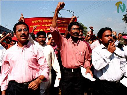 Tamilnet 200203 Jvp In Massive Protest March Against Ceasefire