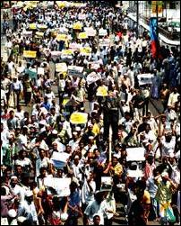 Anti US protest, Colombo.