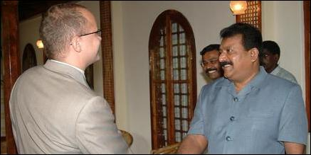 Norwegian Deputy Foreign Minister meets LTTE leader Mr. V. Pirapaharan