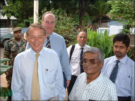 British Defense Team in Jaffna