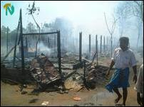 Poonthotam Refugee camp fire