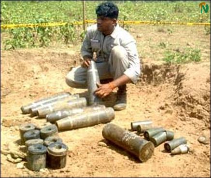 UXO's from Omanthai well