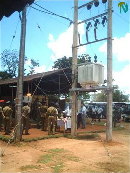 Omanthai SLA checkpoint gets electricity