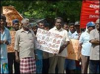 Trinco Sanitation workers protest
