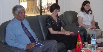 Canadian Ambassador Ms. Valerie Raymond meets with the LTTE Political Head Mr S.P. Thamilchelvan