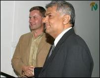 Eric Solheim and Ranil Wickremasinghe