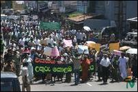 Demonstration in Colombo