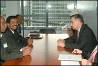 Thamilchelvan meets with Mr. Herve Jouanjean, Deputy Director General of European Commission