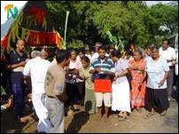 Sinhalese travellers attending celebrations at Palai