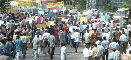 Human-Chain protest in Thenmaradchi