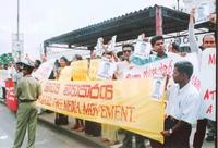 Media persons protest in Colombo