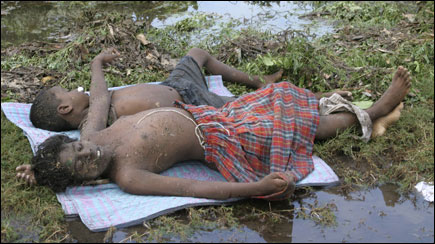 Dead children in Mullaitivu-District