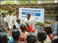 DS Mr.Umamaheswaran distributes cooking utensils to Tusnami victims