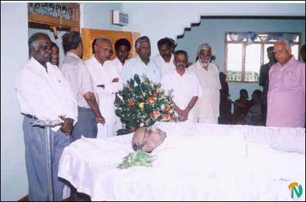 Party members paying homage to Eelathunathan