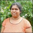 A Sinhalese housewife thanks the TRO