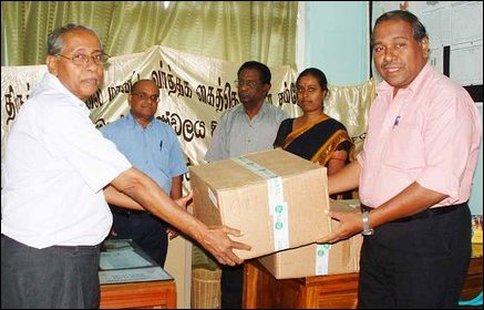Medical equipments donated by Franco-Sri Lanka Business Council