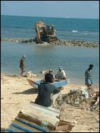 Coral removal in Jaffna