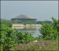 Crime scene behind Sri Lanka Parliament
