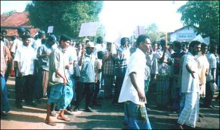 Batticaloa Protest.