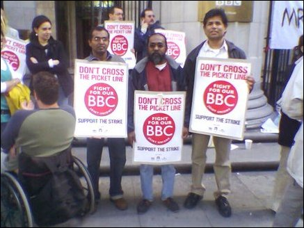 Sandeshaya joins BBC strike