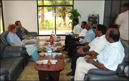 UNICEF Ted Chaiban meets LTTE Political Head in Kilinochchi