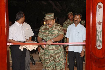 LTTE leader opens new building for Mayoori Illam