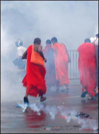JHU Monks protest