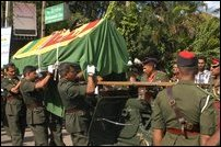 Funeral of MI Officer Mutalif