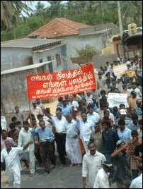 Protest march in Vadamardchi