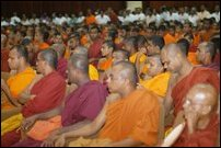 A section of monks attending the conference