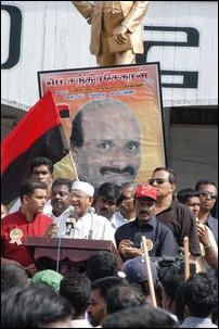 Mr. Periyasamy Chandrasekran, UPF leader addressing the rally