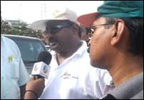CWC leader Mr. Arumugam Thondaman talking to media