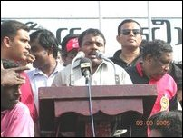 Protest by Upcountry Tamils