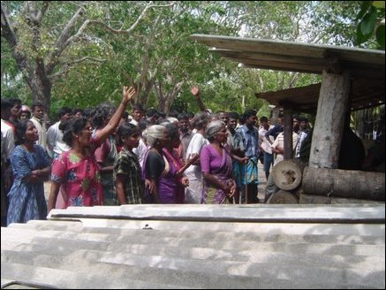 Protest in Puthur, Jaffna
