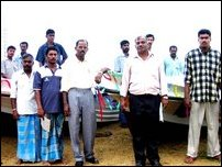 JWS distributes boats to Veloor fishermen.