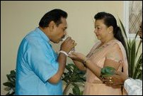 Rajapakse on voting day