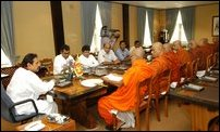 Rajapakse in deliberations with the JHU
