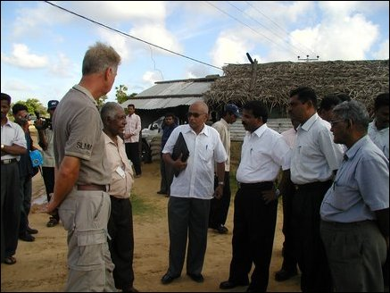 Sri Lankan officials informing Colombo's decision to SLMM and the LTTE