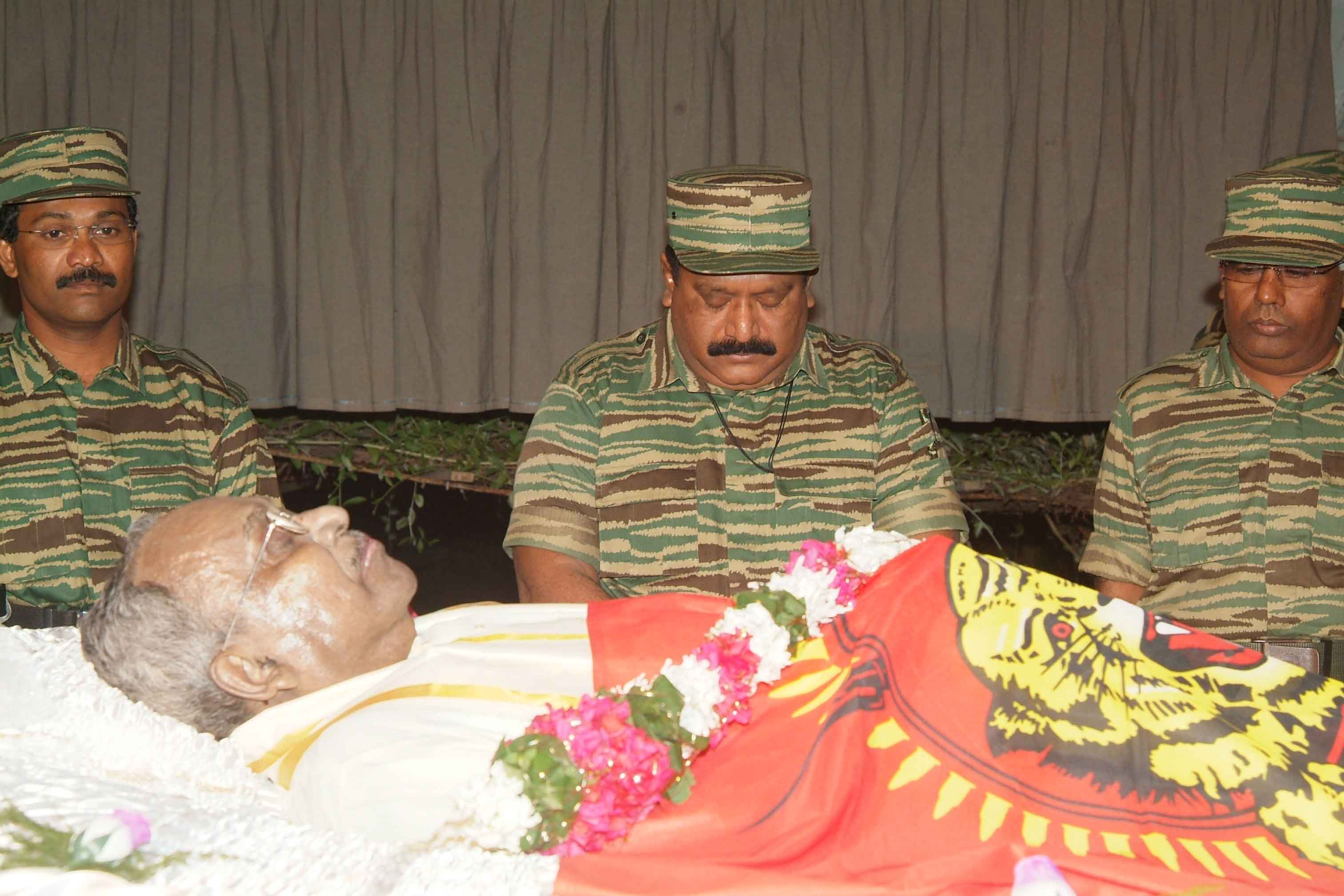 Ltte Leader Photos Ltte Leader Paying Tribute to