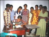 Sewing training in Pooneryn