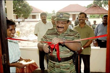 LTTE leader inaugurates new building for Chencholai