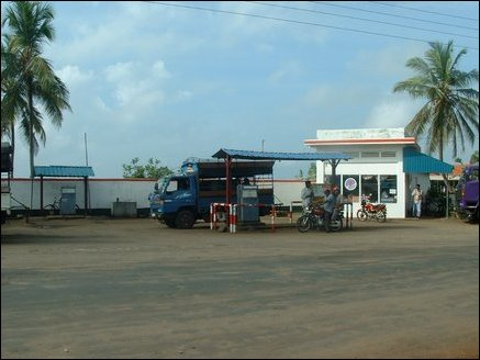 A petrol station in Mannar