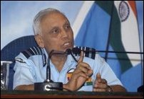 Indian Air Force Chief Air Chief Marshal S. P. Tyagi