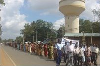 Peace protest in Kilinochchi