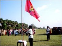 Self-defense training being given  to Tamil women