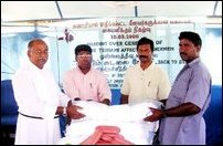 TRO distributes fishing nets to tsunami-hit Mullaitivu